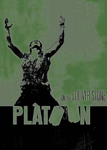 1980's Movie - PLATOON - METALLIC GREEN canvas print - self adhesive poster - photo print